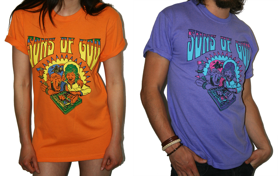 Sons of God Tee - Girls Tangerine Dream / Mens Chakra Violet