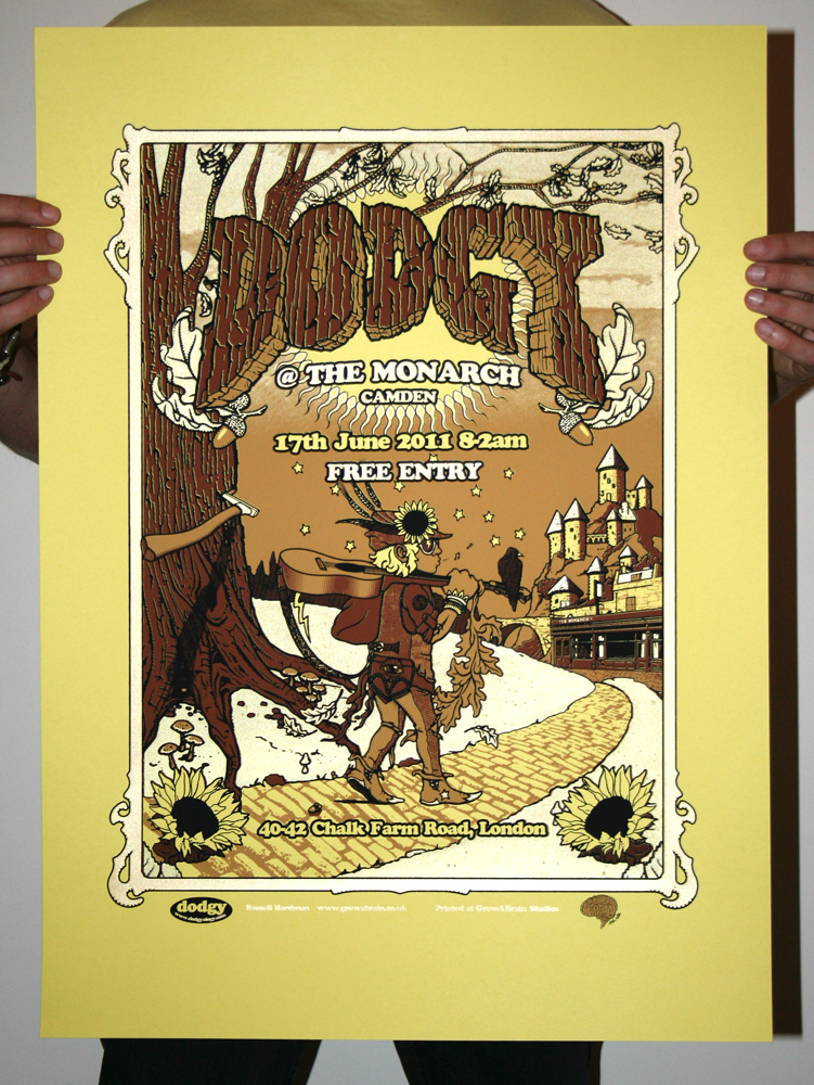 Limited Gold Edition Screenprinted Dodgy Poster