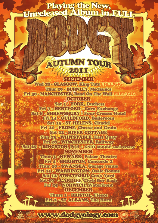 Dodgy AUTUMN TOUR 2011 Commemorative A2 Lithographic Poster