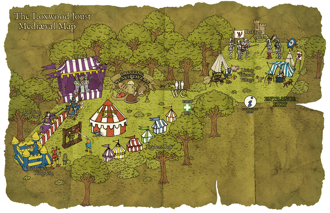 Loxwood Joust Mediaeval Map