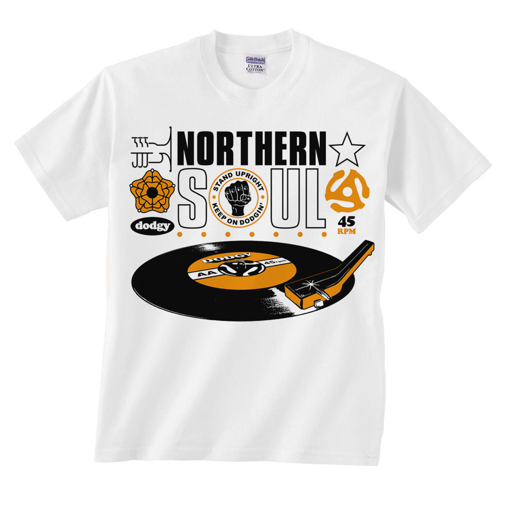 White Northern Soul Tee